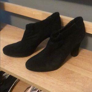 Sam Edelman Simone Black Suede Ankle Boots, 8 1/2